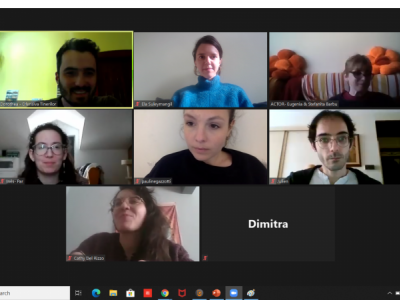 online kick-off meeting for the project Peers for Equality - Creative Learning Platform